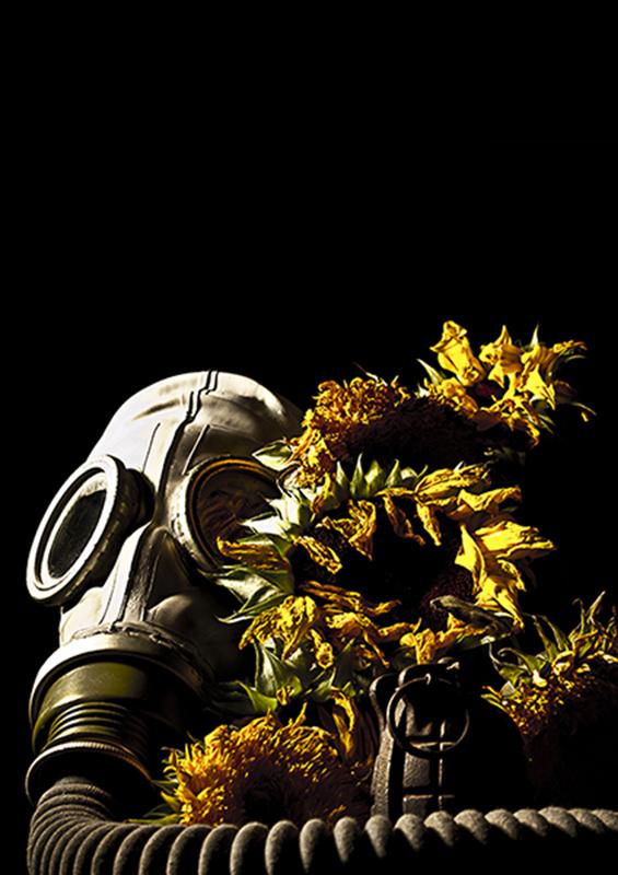 Gasmask & Flowers